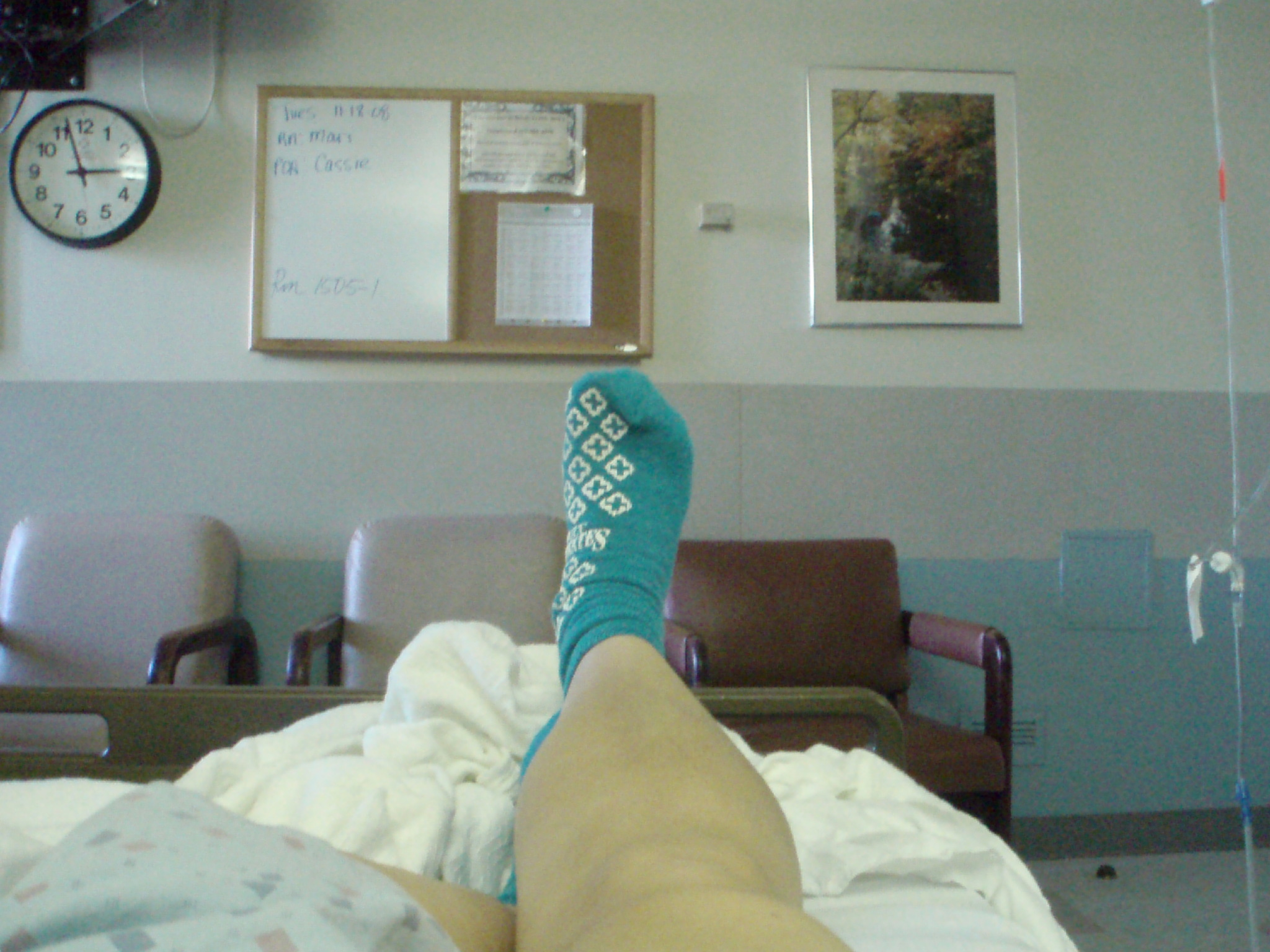 Hospital Room With Patient And Family