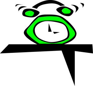 Alarm Clock (Simple) by Gerald_G (2007) / openclipart / public domain